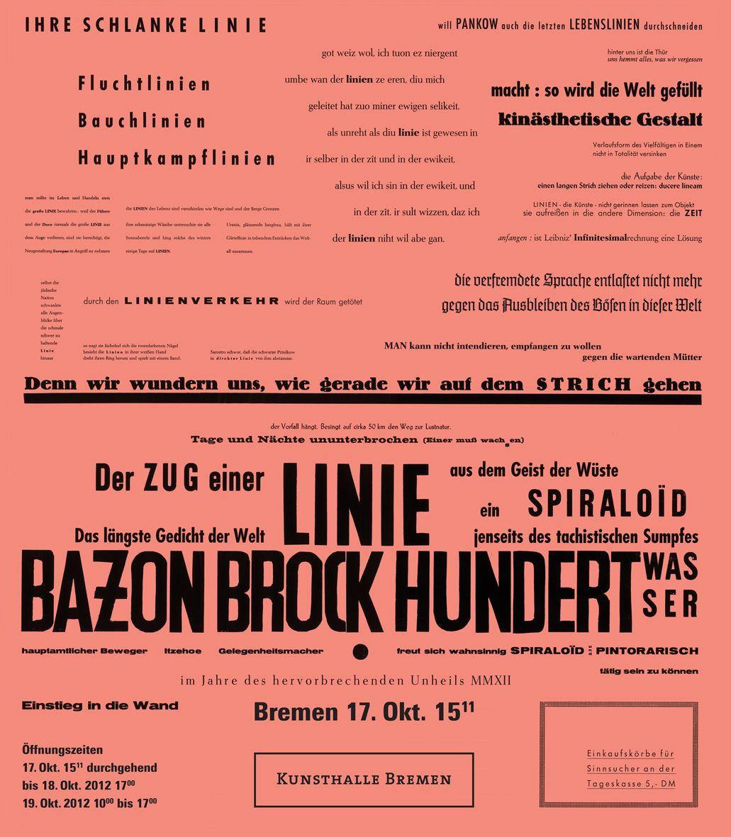 Die Linie von Hamburg - Bazon Brock